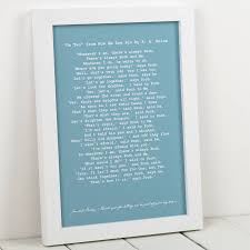 Wedding Readings Personalised Wedding Reading Print By Milly Inspired