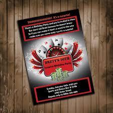 30th surprise party invitations casino theme birthday party invitation surprise party man