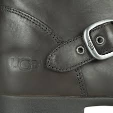 ugg womens frances boots black black leather s buckle boot