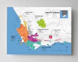 Map Of Cape Town South Africa by Detailed South African Wine Regions Map Wine Posters Wine Folly