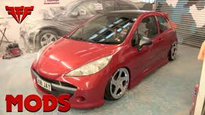 peugeot 207 full body spray for peugeot 207 the modfather youtube
