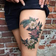 flower thigh design ideas