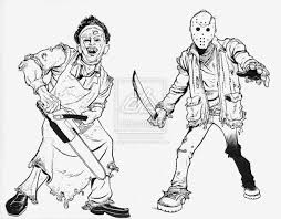 freddy vs jason coloring pages images pictures becuo sketch