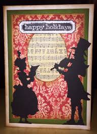 christmas card using tim holtz victorian carolers die things i