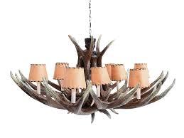 Leather Chandelier Pop Art Decoration Furniture U0026 Accessories Lighting Antler