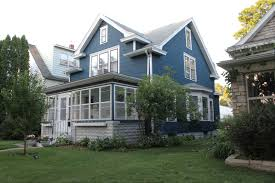 dark blue house color scheme from deuce cities henhouse feather