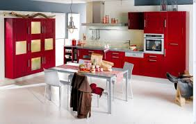 kitchen design in red and white kitchen design ideas