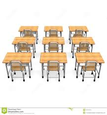 Student Desk Dimensions by Some School Desk Back View Stock Photos Image 31624123