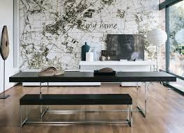 black dining bench interior design ideas