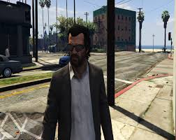 michael u0027s hair for trevor gta5 mods com