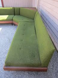 furniture elegant green mid century modern sectional sofa and