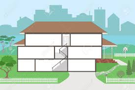 large cutaway house ready to decorate please see my portfolio