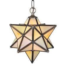 Moravian Star Ceiling Mount by Shop Meyda Tiffany Moravian Star 12 In Mahogany Bronze Single