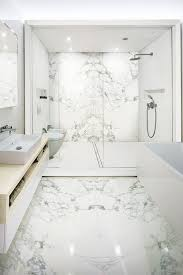 the contemporary bathroom with stonepeak u0027s porcelain floor and