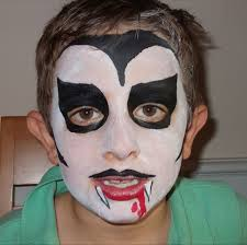 ghost face painting for halloween