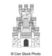 clipart vector castle coloring winter castle snow