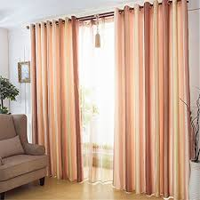 63 Inch Curtains Ffmode Gradient Stripes Semi Blackout Drapes Curtains Grommet Top