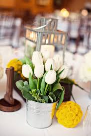 decorating ideas fascinating yellow and white wedding table