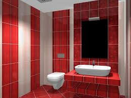 modern bathroom with black white and red tiles stock red tiles