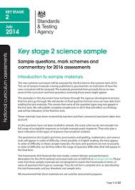 key stage 2 2016 sample science assessment by eric t viking