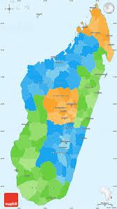 political simple madagascar single color borders