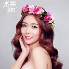 flower hair band 2015 hair accessories happy garland multicolor flower hair