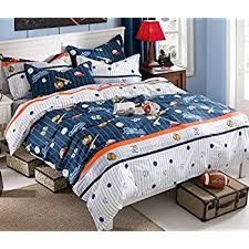 Baseball Bed Sets Charm Home Baseball Bedding For Boys Size Blue
