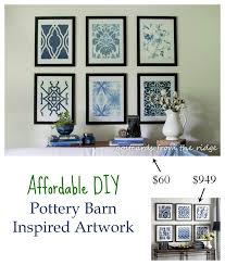 affordable diy artwork inspired by pottery barn rock your