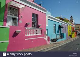 Painted Houses Colourful Painted Houses Chiappini Street Bo Kaap Cape Town South