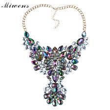necklace for s day miwens brand 2017 new two colors fashion colorful necklace