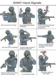 swat hand signals well i love you too mr fingerthe dreaded unicorn