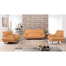 leather livingroom set orange leather living room sets you ll wayfair