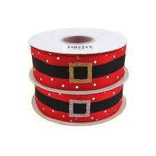 santa belt ribbon belt christmas satin ribbon 1 1 2 inch 20 yards
