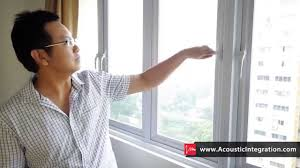 soundproof windows in singapore effectiveness demo youtube