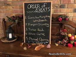 nashville wife fall themed bridal shower pics