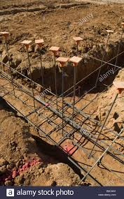 foundation trenches with steel rebar new home construction tucson