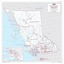 map of bc map of columbia elections canada