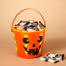 amazon com halloween trick or treat light up bucket toys u0026 games