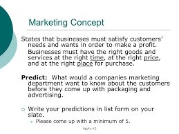 list please predict who the an introduction to marketing and the marketing concept ppt download
