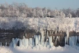 frozen trees rocks picture niagara falls niagara falls