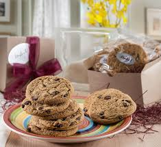 cookie gift baskets dulcet chocolate chip cookie gift baskets includes