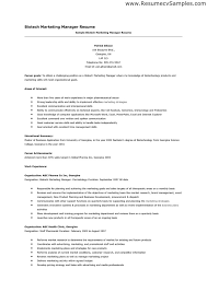 Interest Activities Resume Examples by Comprehensive Marketing Manager Resume Example Essaymafia Com