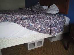 Concrete Block Bed Frame Bike Across Usa Day 32 Cinder Blocks My Motel Bed