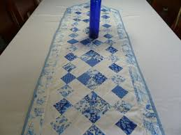 blue and white table runner quilted table runner blue and white table runner blue quilted