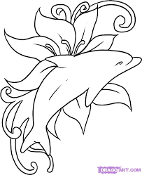dolphin tattoo this illustration piece is a tattoo design
