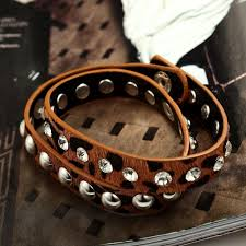 rhinestone leather wrap bracelet images Wrap bracelet trend jpg