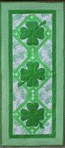 halloween table runner pattern lucky shamrocks attic patterns and quilt table runners