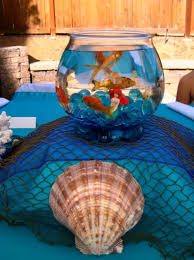 fish bowl centerpieces the sea party oh my creative