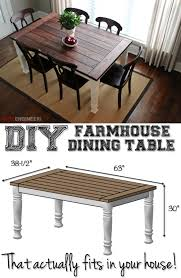 Diy Farmhouse Dining Room Table Diy Farmhouse Table Table Plans Free And Farmhouse Table