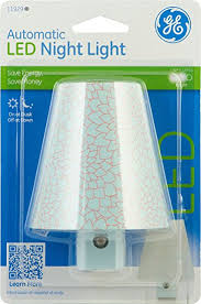 ge led night light ge 11929 night light led light sensing round shade blue